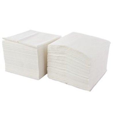 XXLselect Disposable napkins - Layer 1 - white - 33x33cm - Price per 5000 pieces