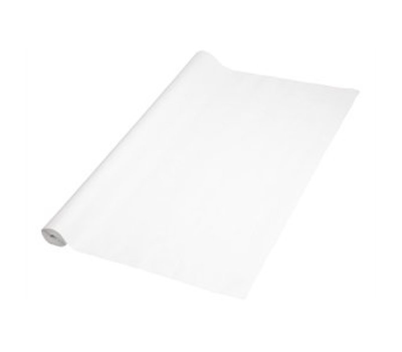 XXLselect Paper Tablecloth Rolls - with Coating - White Damask - 1.2 x 50m