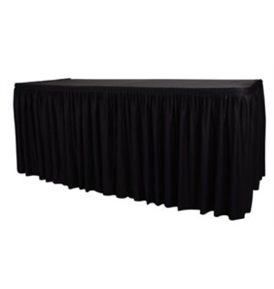 XXLselect Table cover and Tablecloth in 1 - Black - 2 types - None Clips Needed