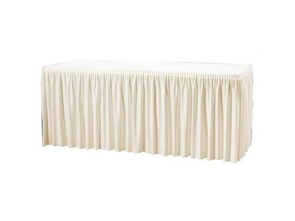 XXLselect Table cover and Tablecloth in 1 - Creme - 2 types - None Clips Needed