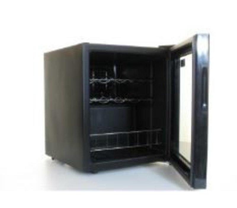 polar flaschen k hlschrank wein k hlschrank 11 flaschen 46 liter 430x480x h 510mm. Black Bedroom Furniture Sets. Home Design Ideas