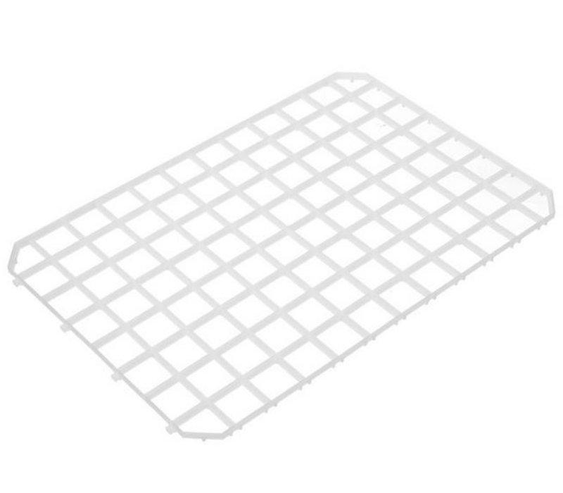 Hendi Afdruipmat kunststof wit - schakelbaar 313x209 mm