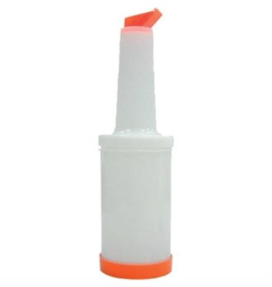 XXLselect Barschenker Wit/Oranje | 1 Liter | 330(H)x100(Ø)mm