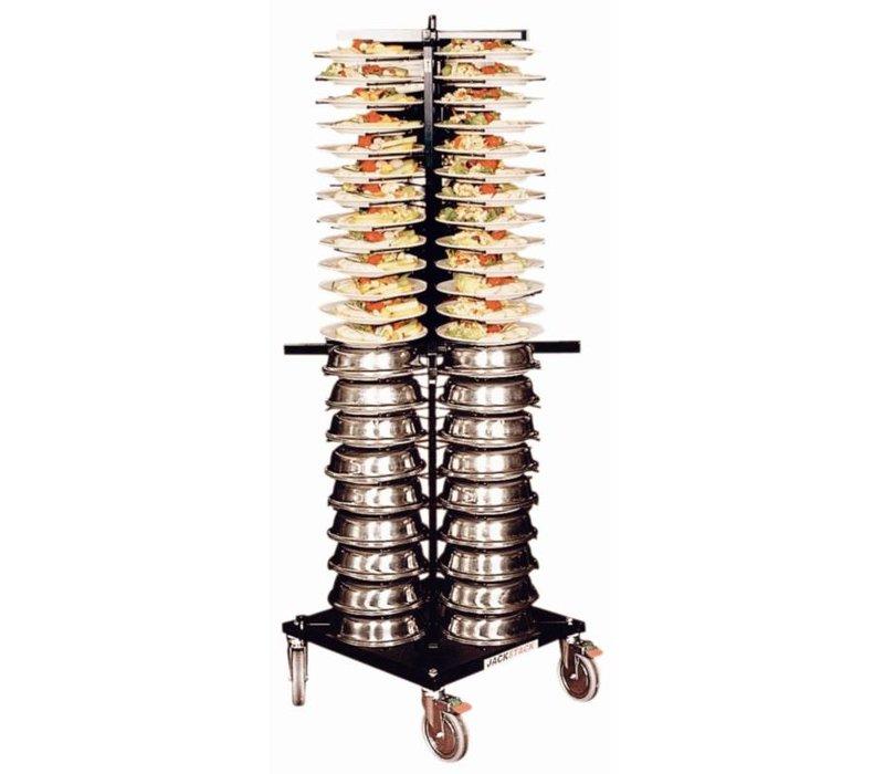 XXLselect Bordenrek Jackstack Verrijdbaart 88 borden - 60x60x179(h)cm