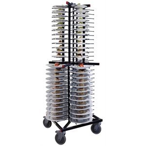 XXLselect Mobile plate rack Jackstack 104 boards - 60x60x179 (h) cm