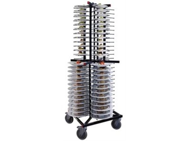 XXLselect Bordenrek Jackstack Verrijdbaar 104 borden - 60x60x179(h)cm