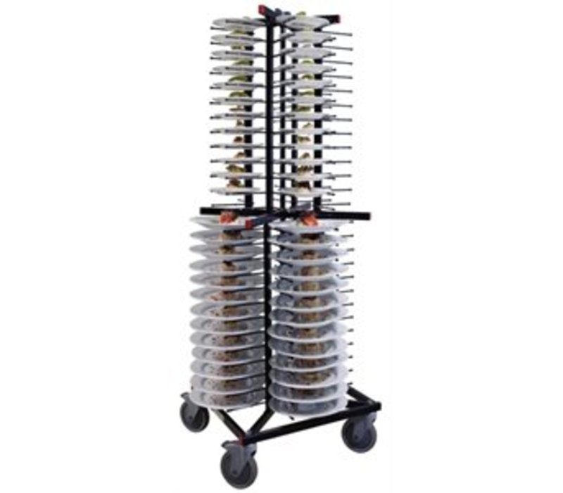 XXLselect Mobile plate rack Jackstack 104 boards - 60x60x179 (h) cm