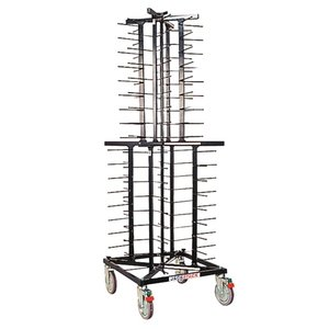 XXLselect Mobile plate rack Jackstack 72 boards - 60x60x179 (h) cm