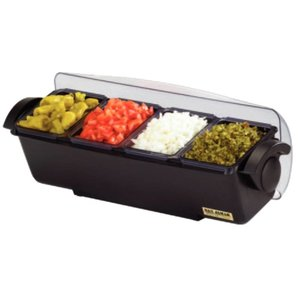 XXLselect Garnish Center | 4 bowls | Refrigerated | 510x155x (H) 155mm