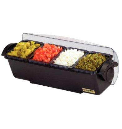 XXLselect Garnish Center | 4 bowls | Refrigerated | 510x155x (H) 155mm