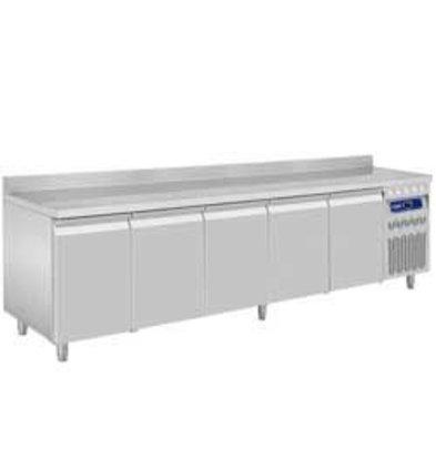 Diamond Coole Werkbank mit Rand Water - Edelstahl - 5 Türen - 262,5x70x (h) 85 / 90cm - Europäische