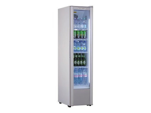 XXLselect Kühlvitrine / Glastür Kühlschrank mit Extra Thin - 299 Liter - 44x73x (h) 185cm