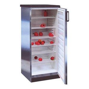 XXLselect Edelstahl Kühlschrank - 6 verstellbare Gitterböden - 270 Liter - 60x62 (h) 145cm