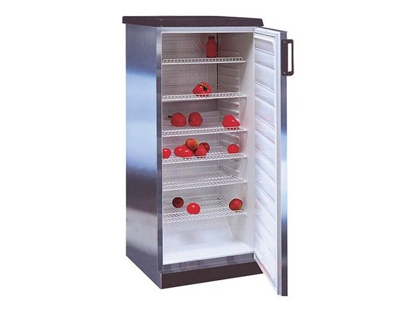 XXLselect Stainless steel refrigerator - 6 adjustable grids - 270 Liter - 60x62 (h) 145cm
