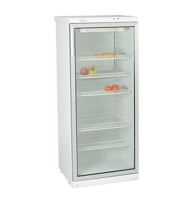 Exquisit Kühlschrank mit Glastür - 5 verstellbare Einlegeböden - 270 Liter - 60x60x (h) 145cm