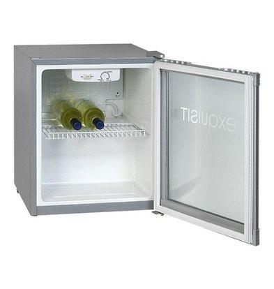Exquisit Kühlschrank mit Glastür - 50 Liter - 47x44x (h) 50 cm