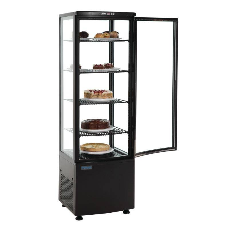 Polar Refrigerated Display Case Black 235 Liters