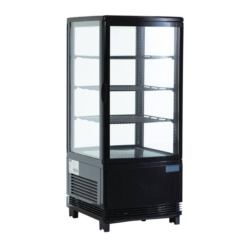 Polar Small Refrigerated Display Case With Lighting