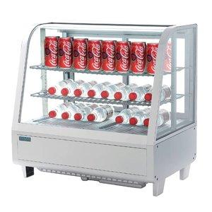 Polar Tabletop Design Kühlvitrine - Weiß - 100 Liter - 68x45x (h) 67cm - XXL OFFER!