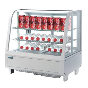 Polar Tabletop design Refrigerated display case - White - 100 Liter - 68x45x (h) 67cm - XXL OFFER!