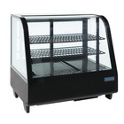 Polar Tabletop design Refrigerated display case - black - 100 Liter - 68x45x (h) 67cm - XXL OFFER!