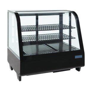 Polar Tabletop design Refrigerated display case - black - 100 Liter - 68x45x (h) 67cm - XXL OFFER!