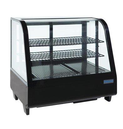 Polar Tabletop Design Kühlvitrine - schwarz - 100 Liter - 68x45x (h) 67cm - XXL ANGEBOT!