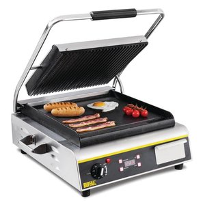 Buffalo Kontakt Grill Jumbo Heavy Duty - Gerippt / Smooth - 56x54x (h) 23cm - 2900W - Digital-