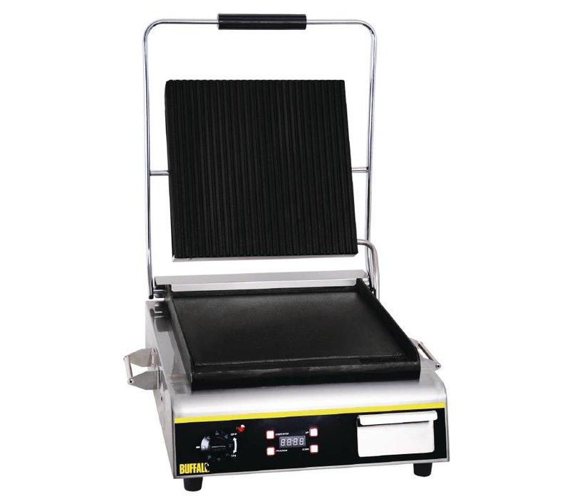 Buffalo Kontaktgrill Jumbo Heavy Duty - Gerippte / Glatt - 56x54x (h) 23cm - 2900W - Digitale