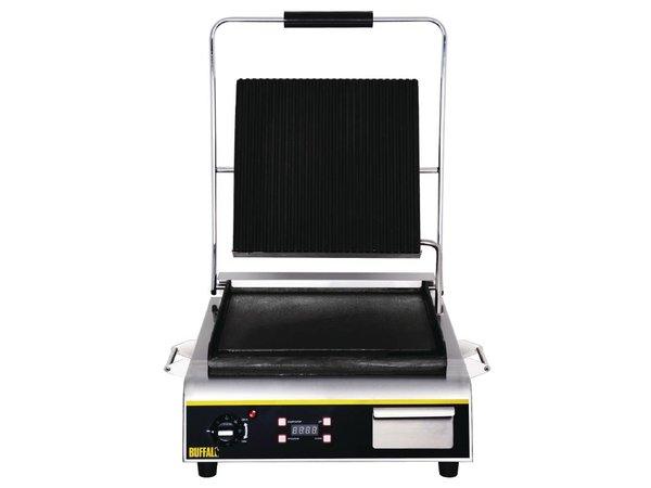 Buffalo Contactgrill Jumbo Heavy Duty - Geribd/Glad - 56x54x(h)23cm - 2900W - Digitaal