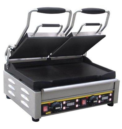 Buffalo Contact Grill Double - Heavy Duty - Smooth - 48x40x (h) 24cm- 2900W - Digital