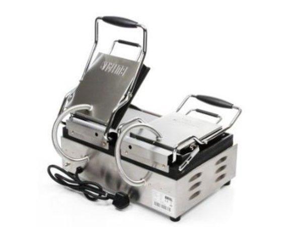 Buffalo Kontakt Grill Doppel - Heavy Duty - gerippt - 48x40x (h) 24cm- 2900W - Digitale