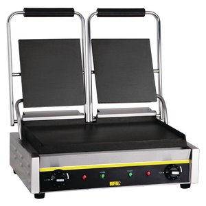 Buffalo Contact Grill Double Budget - Smooth - 54x39x (h) 21cm - 2900W