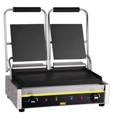 Buffalo Kontakt Grill-Doppel Budget - Glatt - 54x39x (h) 21cm - 2900W