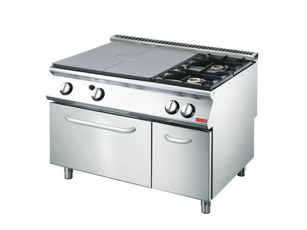 Gastro M Griddle stove and two burners + Oven and Frame | SS | 1200x700x850 (H) mm