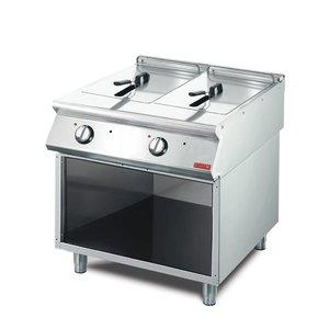 Gastro M Friteuse | Elektrisch | RVS | 2 x 10 Liter | 400V | 15kW | Met Onderstel | 800x700x(h)850mm