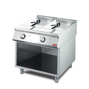 Gastro M fryer | electric | SS | 2 x 10 Liter | 400V | 15kW | With Mount | 800x700x (H) 850mm