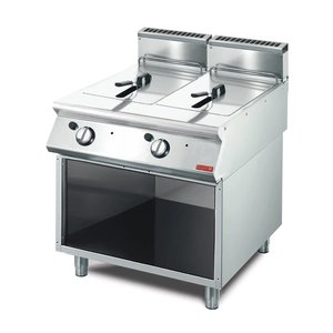 Gastro M Friteuse | Gas | RVS | 2x13 Liter | 15kW | Met Onderstel | 80x70x(h)85cm