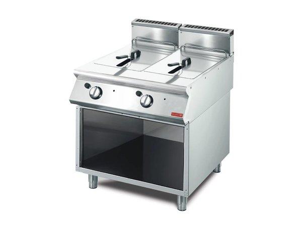Gastro M fryer | gas | SS | 2x13 Liter | 15kW | With Mount | 80x70x (h) 85cm