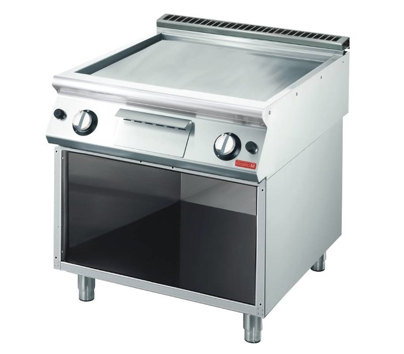 Gastro M Griddle - Stainless Steel - Gas - Gladstone - With Mount - 80x70x (h) 85cm - 11,4kW