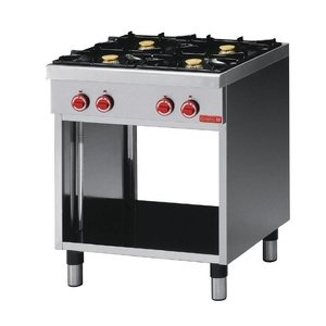 Gastro M Gas stove | Stainless steel | 4 burners | With Mount | 17,2kW | 700x650x (H) 850mm