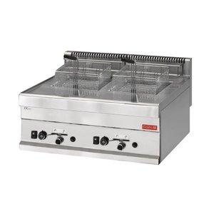 Gastro M Gas Fryer | 2x8 Liter | 12,6 kW | 700x650x (H) 280mm