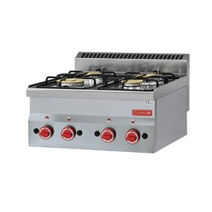 Gastro M Gas stove | SS | 4 Burners | 60x60x (h) 28cm | 12,1kW