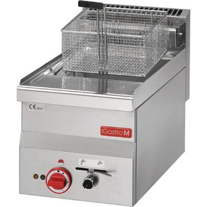 Gastro M Stainless Steel Fryer | Electrical | Built-in drain valve | 10 Liter | 400V | 7.5kW | 300x600x (H) 280mm