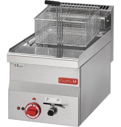 Gastro M Friteuse RVS | Elektrisch | Ingebouwde aftapkraan | 10 Liter | 400V | 7,5kW | 300x600x(H)280mm