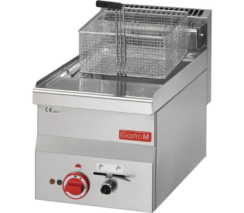 Gastro M Stainless Steel Fryer   Elektrizität   Eingebaute Hahn   10 Liter   400V   7,5 kW   300x600x (H) 280mm