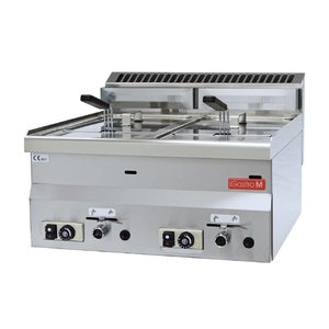 Gastro M Gas Fritteuse | 2x8 Liter | 13,6kW | 600x600x (H) 280mm