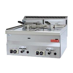 Gastro M Gas Fryer | 2x8 Liter | 13,6kW | 600x600x (H) 280mm