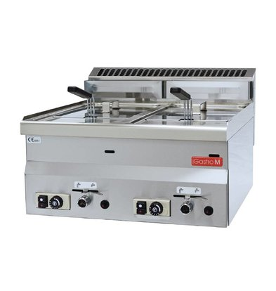 Gastro M Friteuse Gas | 2x8 Liter | 13,6kW | 600x600x(H)280mm