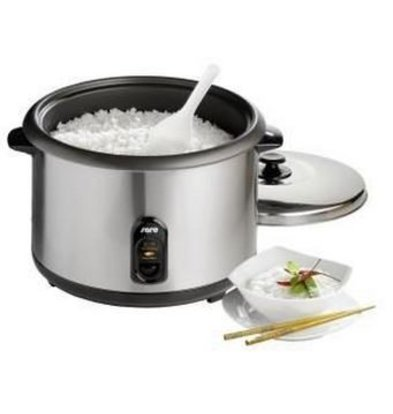 Saro Electric Rice Cooker SS + Measuring cup + Spoon + Steam function | 10-24 people - 4.2 liters